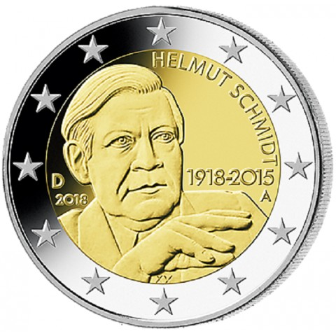 "2 Euro Germany ""A"" 2018 - Helmut Schmidt (UNC)"