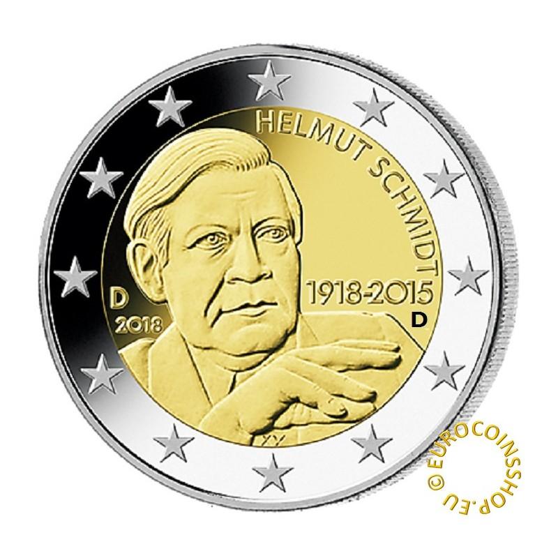 "Germany 2 euro coin 2018 /""Helmut Schmidt/"" UNC"