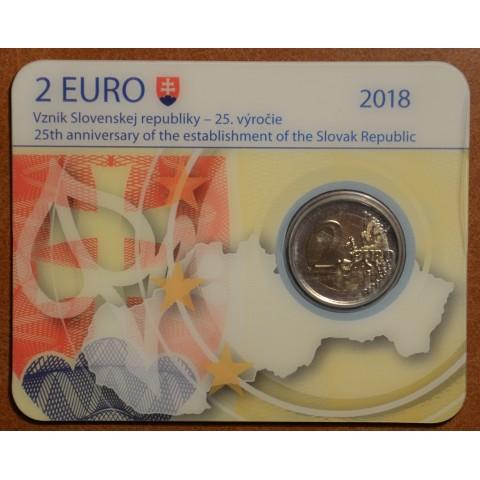 2 Euro Slovakia 2018 - 25 year of Slovak Republic (BU card)