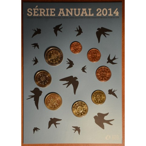 Set of 8 coins Portugal 2014 (BU)