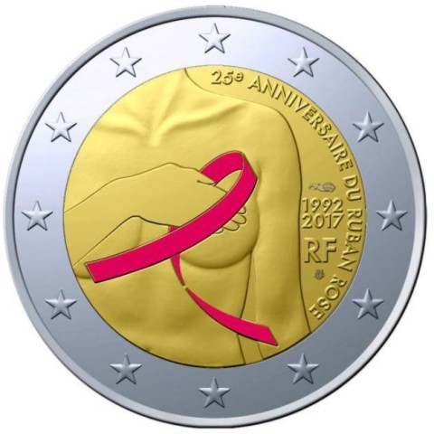 2 Euro France 2017 - Breast cancer research (Proof)