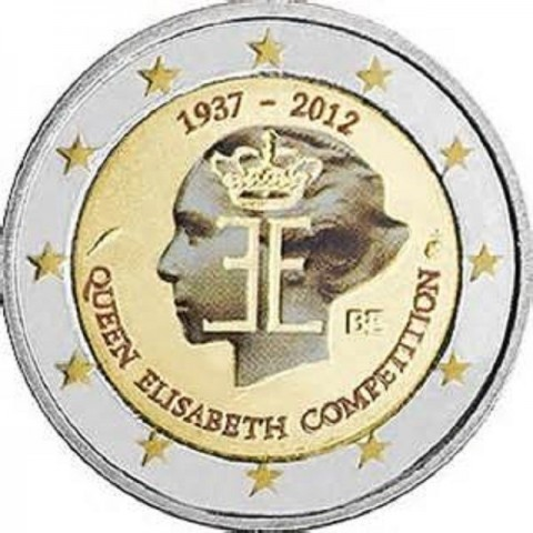 2 Euro Belgium 2012 - The 75th anniversary of the Queen Elisabeth Competition (UNC colored)
