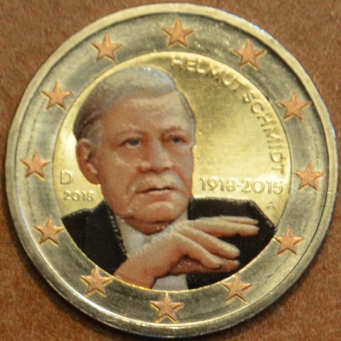 "2 Euro Germany ""A"" 2018 - Helmut Schmidt (colored UNC)"