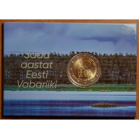 2 Euro Estónsko 2018 - Sté výročie nezávislosti Estónska (BU karta)