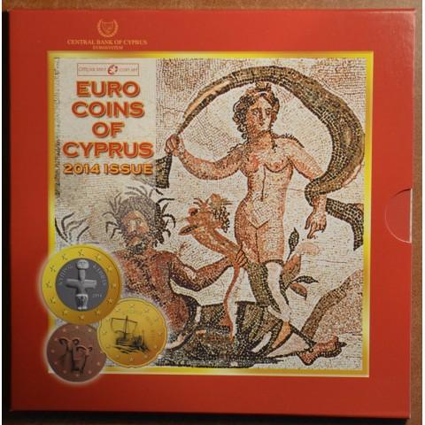 Set of 8 eurocoins Cyprus 2014 (BU)
