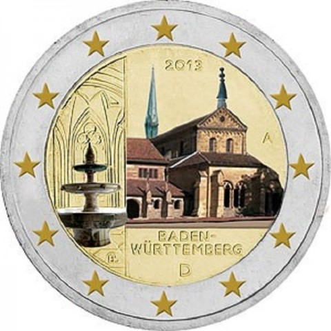 "2 Euro Germany ""F"" 2013 - Baden-Württemberg: Kloster Maulbronn (UNC)"