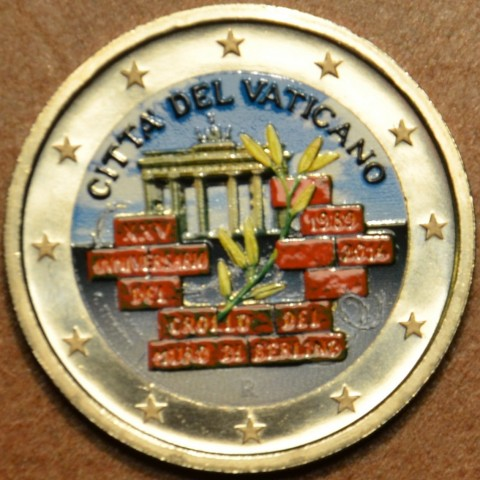 2 Euro Vatican 2014 - 25th Anniversary of the fall of the Berlin Wall (colored UNC)