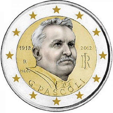 2 Euro Italy 2012 - 100th Anniversary of the Death of Giovanni Pascoli (UNC)