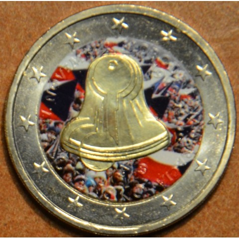2 Euro Slovakia 2009 - 20th Anniversary of the Start of the Velvet Revolution VI. (colored UNC)