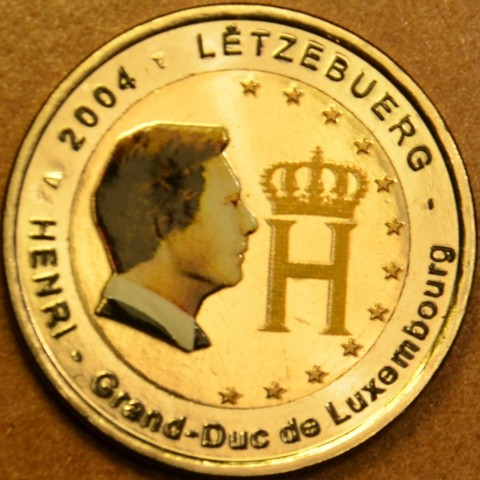 2 Euro Luxembourg 2004 - Effigy and monogram of Grand-Duke Henri (colored UNC)