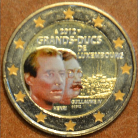 2 Euro Luxembourg 2012 -100th Anniversary of the death of the William IV. - III. (colored UNC)