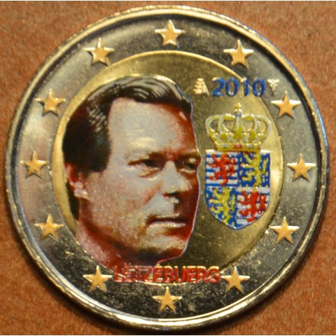 2 Euro Luxembourg 2010 - Coat of arms of the Grand Duke II. (colored UNC)