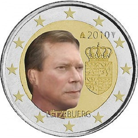 2 Euro Luxembourg 2010 - Coat of arms of the Grand Duke  (UNC)