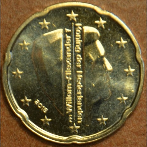 20 cent Holandsko 2018 - Kráľ Willem Alexander (UNC)