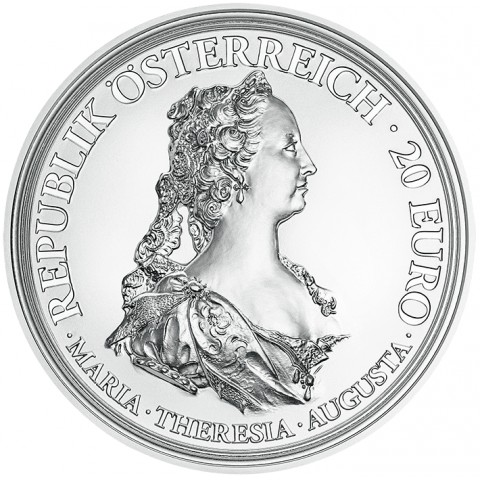 20 Euro Austria 2017 Maria Theresa Brave and Determination (Proof)