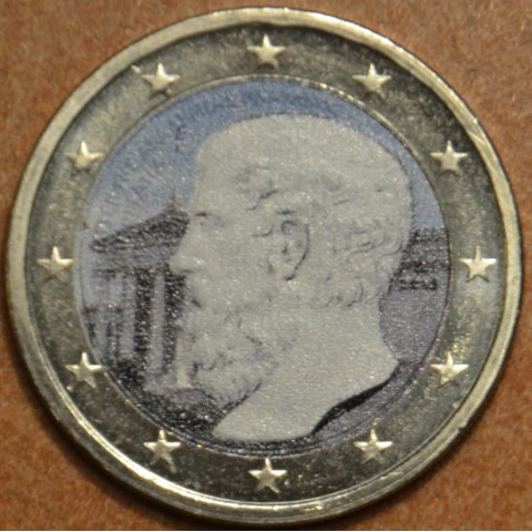 2 Euro Greece 2013 - The 2400th Anniversary of the founding of Plato's Academy IV. (colored UNC)
