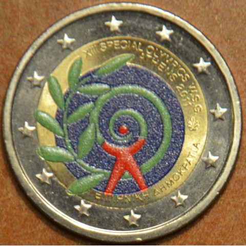 2 Euro Greece 2011 - The Special Olympics World Summer Games - Athens III. (colored UNC)