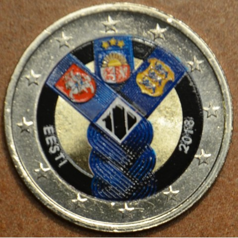 2 Euro Estonia 2018 - Baltic Community Issue - 100 Years of Independence III. (colored UNC)