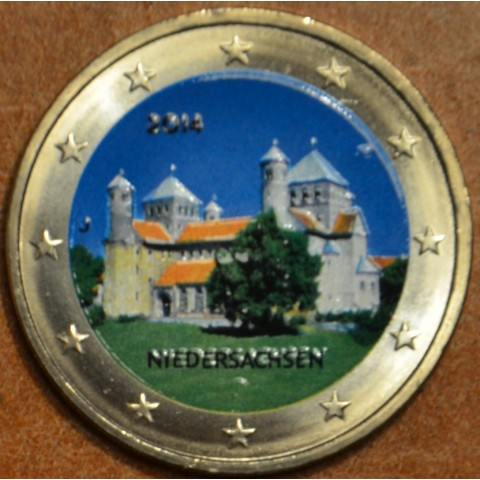"""2 Euro Germany """"A"""" 2014 - St. Michael church - Niedersachsen III. (colored UNC)"""
