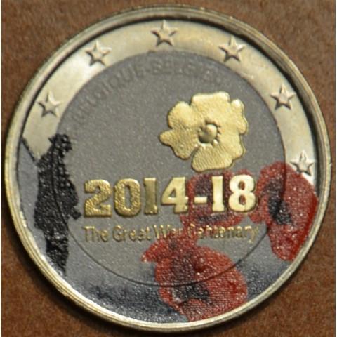 2 Euro Belgicko 2014 - 100. výročie prvej svetovej vojny III. (farebná UNC)