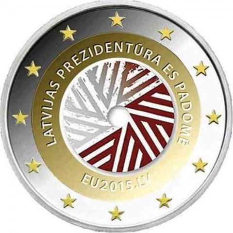 2 Euro Latvia 2014 - Latvian presidency of the EU V. (colored UNC)
