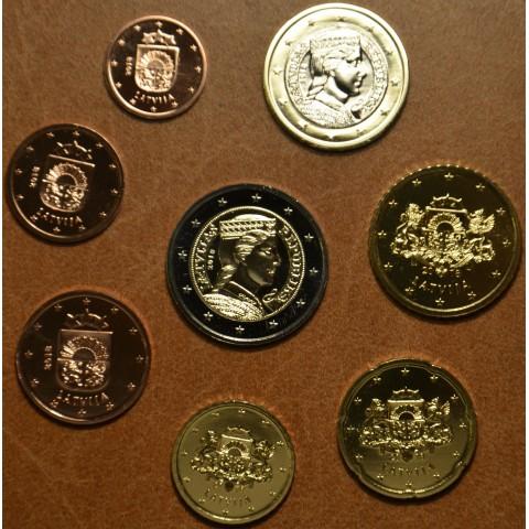 Sada 8 euromincí Lotyšsko 2018 (UNC)