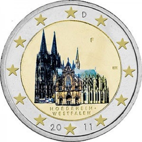 "2 Euro Germany ""J"" 2011 - North Rhine-Westphalia: Cathedral in Köln (UNC)"