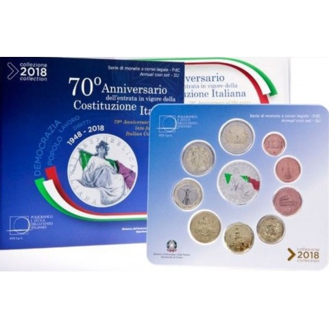 Set of 10 coins Italy 2018 (BU)
