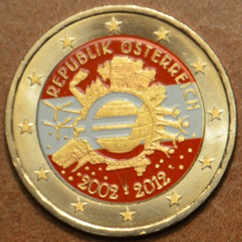 2 Euro Austria 2012 - Ten years of Euro III.  (colored UNC)