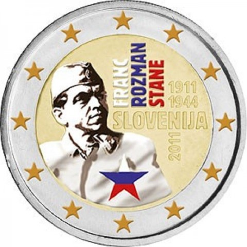 2 Euro Slovinsko 2011 - 100. výročie narodenia Franca Rozmana (UNC)