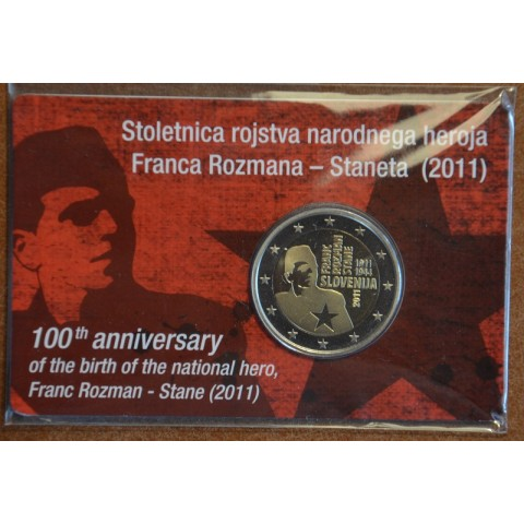 2 Euro Slovenia 2011 - 100th anniversary of the birth of Franc Rozman (Proof)