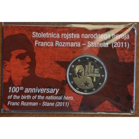 2 Euro Slovinsko 2011 - 100. výročie narodenia Franca Rozmana (Proof)