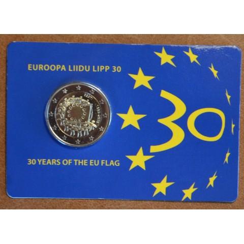 2 Euro Estónsko 2015 - 30 rokov Europskej vlajky  (BU karta)