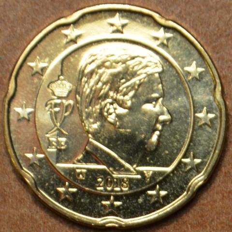 20 cent Belgicko 2018 - Kráľ Filip (UNC)