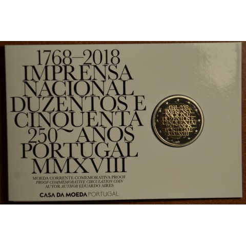 2 Euro Portugal 2018 - 250 years of mint INCM (Proof)