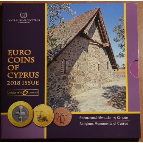 Sada 8 euromincí Cyprus 2018 (BU)