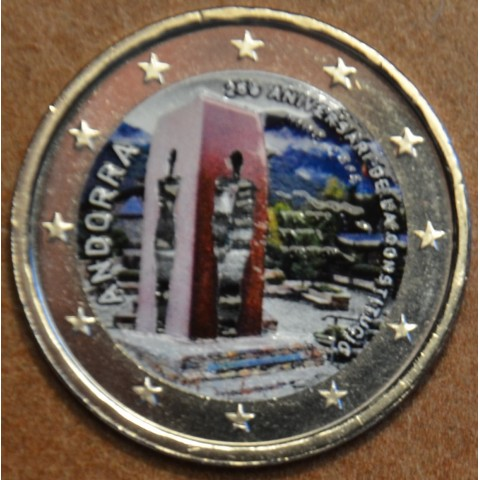2 Euro Andorra 2018 - 25th anniversary of the Andorran Constitution (colored UNC)