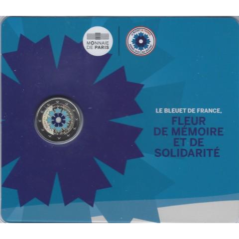 2 Euro Francúzsko 2018 - Bleuet de France (francúzska nevädza) (BU)