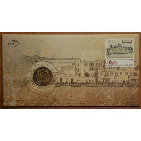 2 Euro Grécko 2013 - 100 rokov únie s Krétou numizmatická obálka (BU)