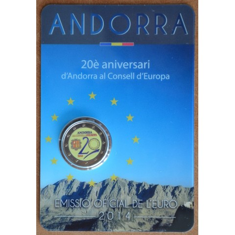 2 Euro Andorra 2014 - Admission to Council of Europe II.  (colored UNC)