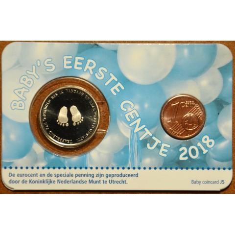1 cent Holandsko 2018 - Môj prvý cent - chlapec (BU)
