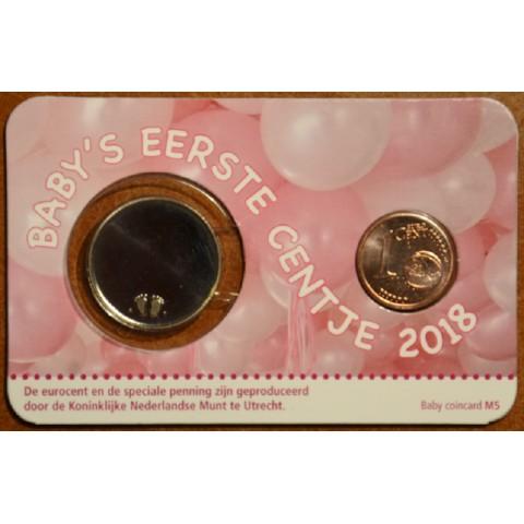 1 cent Holandsko 2018 - Môj prvý cent - dievča (BU)