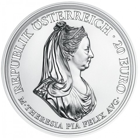 20 Euro Austria 2018 Maria Theresa Clemency and Faith (Proof)