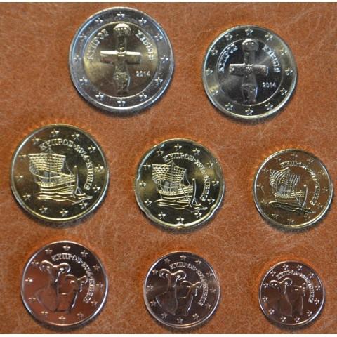 Set of 8 eurocoins Cyprus 2014 (UNC)