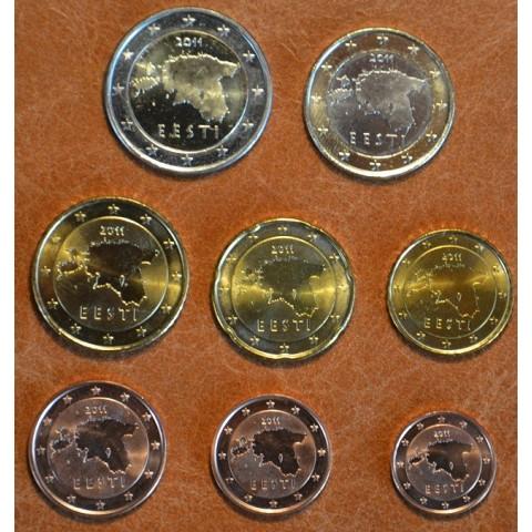 Set of 8 eurocoins Estonia 2011 (UNC)