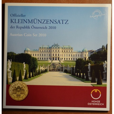 Sada 8 rakúskych mincí 2010 (BU)