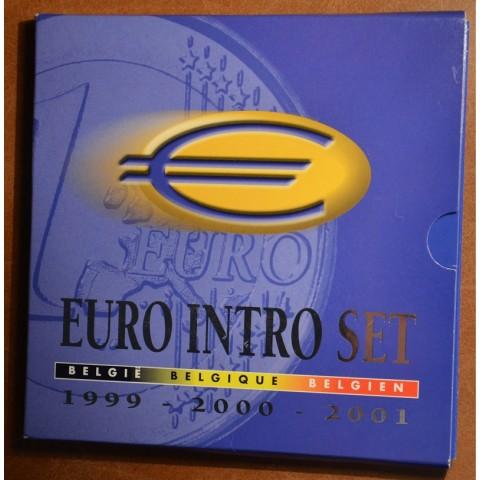 Sada 3x8 belgických mincí 1999-2001 (UNC)