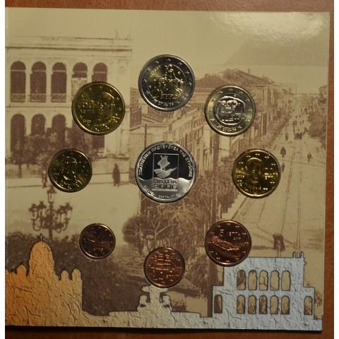 Set of 9 eurocoins Greece 2006 with 10 Euro coin (BU)