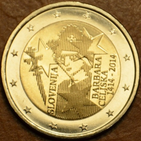 2 Euro Slovenia 2014 - 600th Anniversary of the coronation of Barbara Celjska  (UNC)