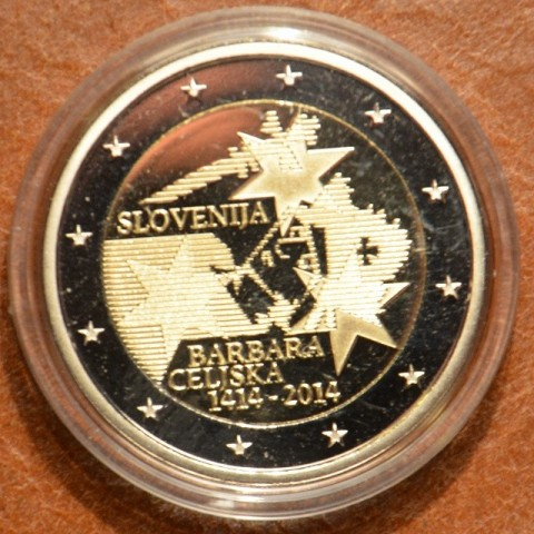 2 Euro Slovenia 2014 - 600th Anniversary of the coronation of Barbara Celjska  (Proof)